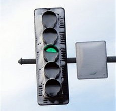Snow Covered Stoplights