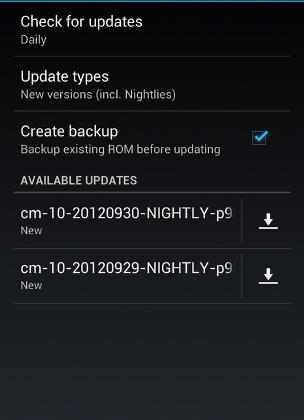 CyanogenMod-10-updater