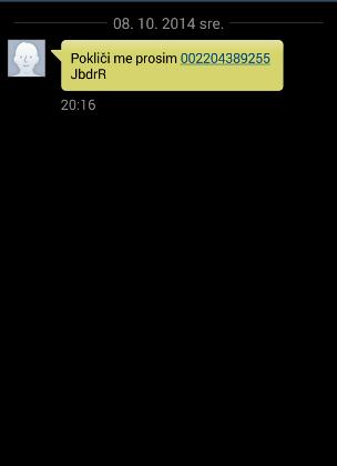 Wangiri SMS prevara