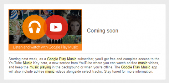 YouTube Music Key-Google Play Music All Access