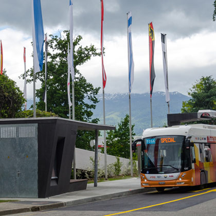 TOSA bus stop for electric bus