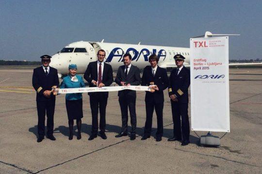 Letalska Karta Maribor Berlin.Adria Airways Je Danes 24 4 2015 Odprla Linijo Ljubljana Berlin