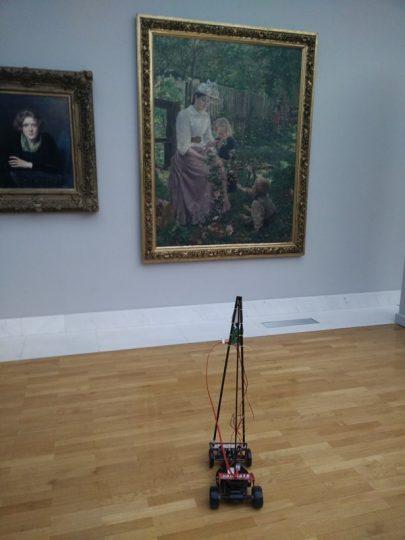 Takole nekako bo izgledal robotek, ki vas bo popeljal po Narodni galeriji.