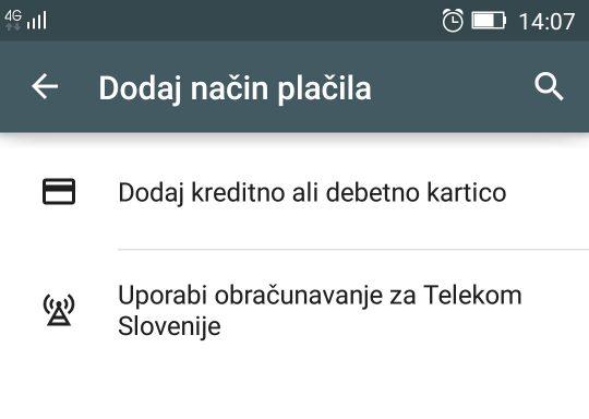 telekom slovenije sedaj z mo nostjo pla ila v google play. Black Bedroom Furniture Sets. Home Design Ideas