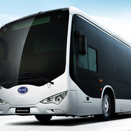 BYD electric bus los angeles