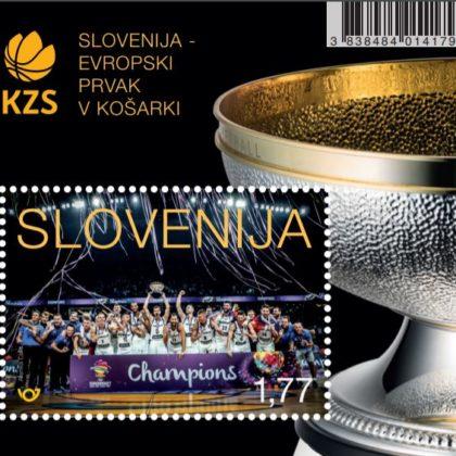 znamka-posta-slovenije-slovenija-evropski-prvak-v-kosarki