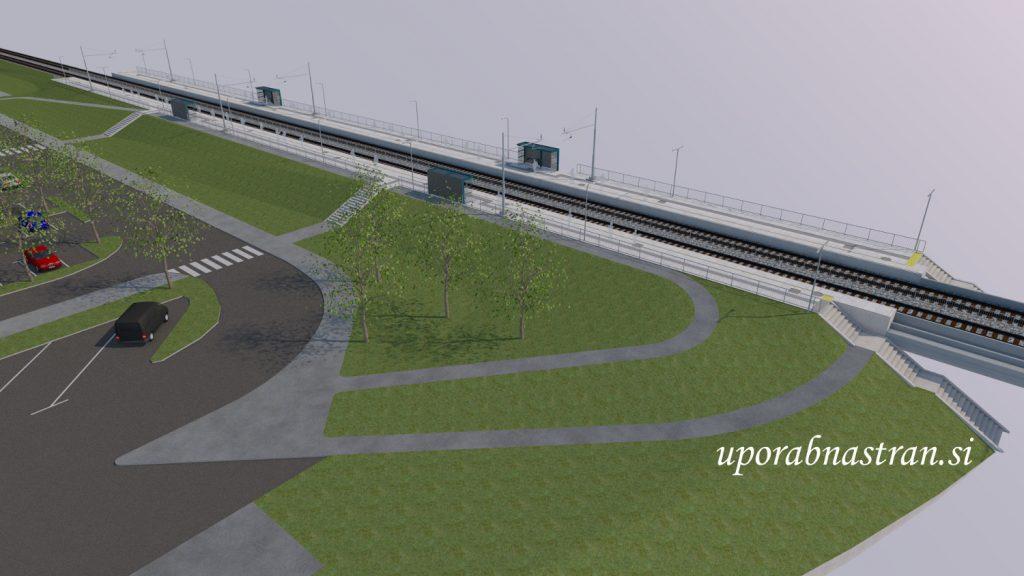 Dolgi most postajalisce- vizualizacija