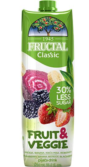 Fructal Classic Fruit & Veggie-jagoda-rdeca-pesa