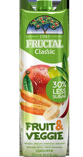 Fructal Classic Fruit & Veggie-mango-korencek
