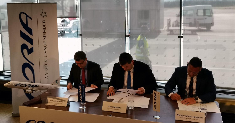 Adria-airways-Northern-Aerotech podpis pogodbe