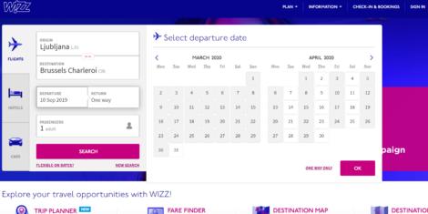 wizz-air-ljubljana-Brussels-Charleroi-poletje-2020