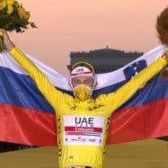 Tadej Pogacar zmagovalec Dirke po Franciji 2020 - Tour de France 2020 -rumena majica