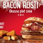 Bacon rosti Mcdonalds Slovenija Alpski tedni 2020 Camembert trikotniki