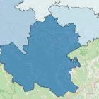 Juhovzhodna regija – meja, občine, zemljevid Slovenija meje