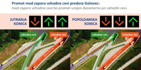 Predor-Golovec-zaprt-2021-promet-med-zaporo
