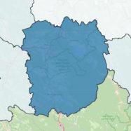 Primorsko-notranjska regija meja obcine zemljevid Slovenija meje