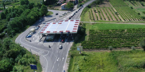 mejni prehod Sečovlje Slovenija Hrvaška