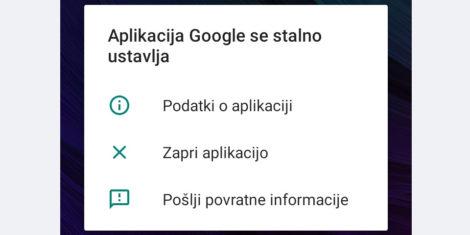 Aplikacija-Google-se-stalno-ustavlja